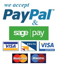 We Accept SagePay and PayPal