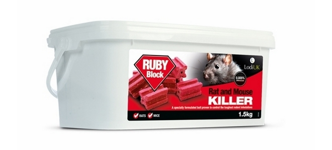 Ruby / Raco Rat Poison Bait Wax Blocks x 75 (1.5kg)